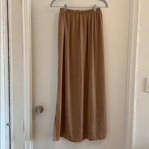 Zara tan maxi skirt